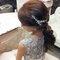 嬰兒粉鑲鑽雪紡紗_韓式低馬尾_魚兒(編號:419183)