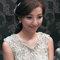 嬰兒粉鑲鑽雪紡紗_韓式低馬尾_魚兒(編號:419343)