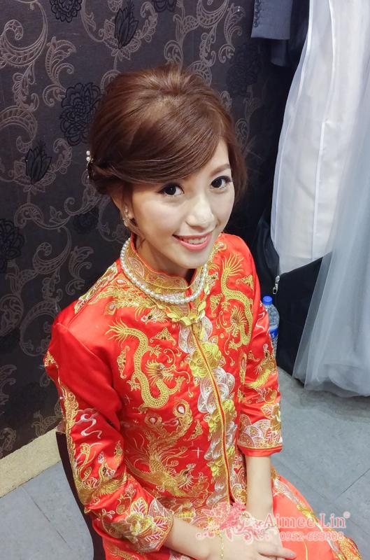 龍鳳袍 (裙掛) ,氣質編髮,上台造型,魚兒,基隆全家福海鮮餐廳(編號:419433) - 新秘愛咪Aimee Makeup《結婚吧》