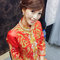 龍鳳袍 (裙掛) ,氣質編髮,上台造型,魚兒,基隆全家福海鮮餐廳(編號:419439)