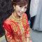 龍鳳袍 (裙掛) ,氣質編髮,上台造型,魚兒,基隆全家福海鮮餐廳(編號:419443)