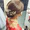 龍鳳袍 (裙掛) ,氣質編髮,上台造型,魚兒,基隆全家福海鮮餐廳(編號:419454)