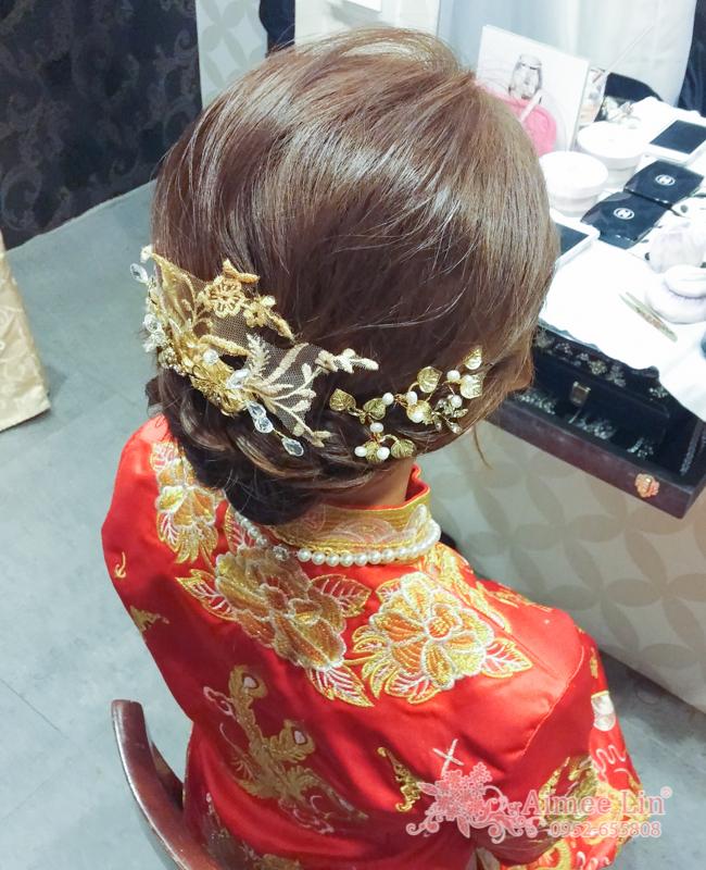 龍鳳袍 (裙掛) ,氣質編髮,上台造型,魚兒,基隆全家福海鮮餐廳(編號:419460) - 新秘愛咪Aimee Makeup《結婚吧》