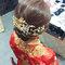 龍鳳袍 (裙掛) ,氣質編髮,上台造型,魚兒,基隆全家福海鮮餐廳(編號:419460)