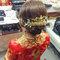 龍鳳袍 (裙掛) ,氣質編髮,上台造型,魚兒,基隆全家福海鮮餐廳(編號:419466)