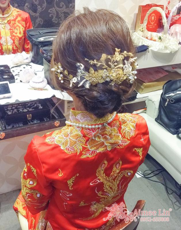龍鳳袍 (裙掛) ,氣質編髮,上台造型,魚兒,基隆全家福海鮮餐廳(編號:419472) - 新秘愛咪Aimee Makeup《結婚吧》