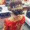 龍鳳袍 (裙掛) ,氣質編髮,上台造型,魚兒,基隆全家福海鮮餐廳(編號:419472)