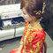 龍鳳袍 (裙掛) ,氣質編髮,上台造型,魚兒,基隆全家福海鮮餐廳(編號:419478)