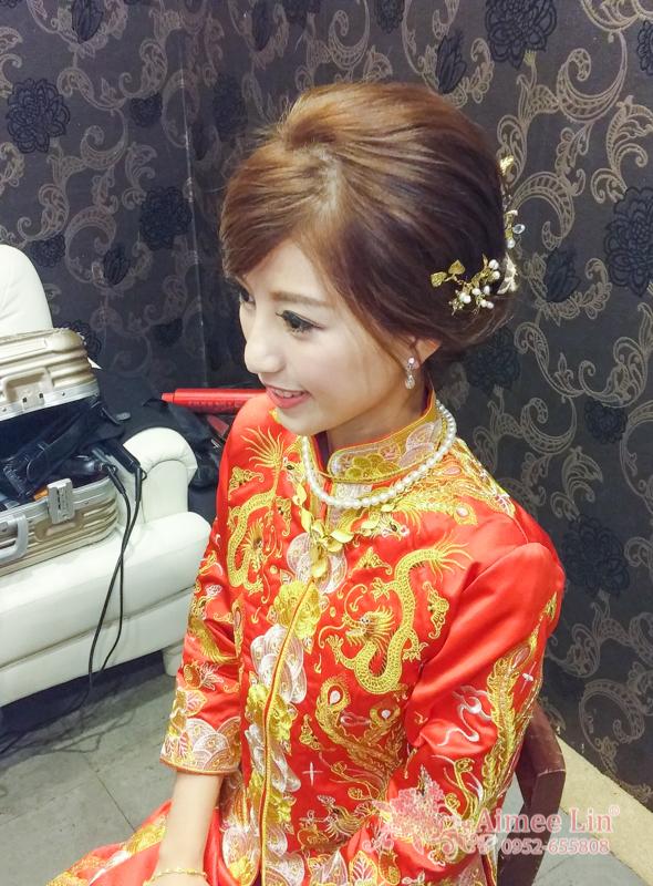 龍鳳袍 (裙掛) ,氣質編髮,上台造型,魚兒,基隆全家福海鮮餐廳(編號:419485) - 新秘愛咪Aimee Makeup《結婚吧》