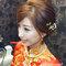 龍鳳袍 (裙掛) ,氣質編髮,上台造型,魚兒,基隆全家福海鮮餐廳(編號:419491)