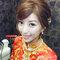 龍鳳袍 (裙掛) ,氣質編髮,上台造型,魚兒,基隆全家福海鮮餐廳(編號:419503)
