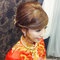龍鳳袍 (裙掛) ,氣質編髮,上台造型,魚兒,基隆全家福海鮮餐廳(編號:419511)