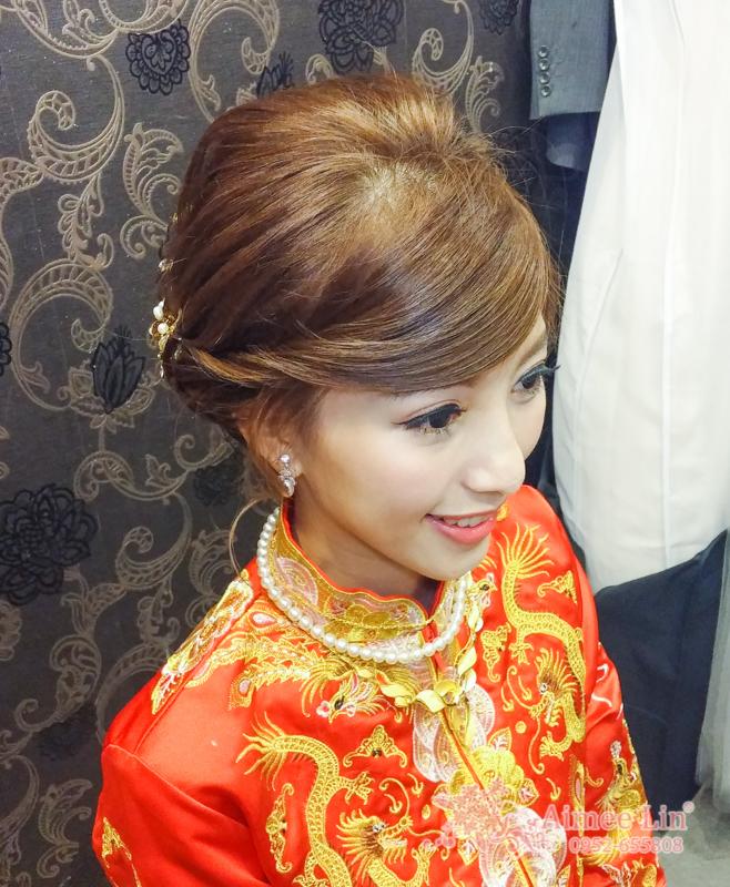 龍鳳袍 (裙掛) ,氣質編髮,上台造型,魚兒,基隆全家福海鮮餐廳(編號:419516) - 新秘愛咪Aimee Makeup《結婚吧》