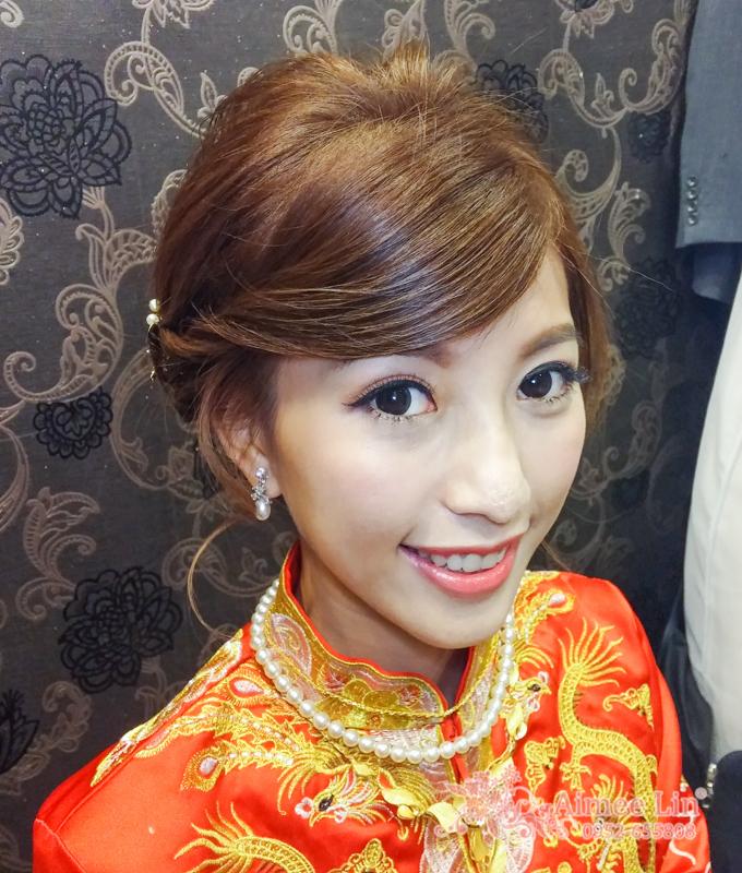 龍鳳袍 (裙掛) ,氣質編髮,上台造型,魚兒,基隆全家福海鮮餐廳(編號:419529) - 新秘愛咪Aimee Makeup《結婚吧》