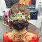 龍鳳袍 (裙掛) ,氣質編髮,上台造型,魚兒,基隆全家福海鮮餐廳(編號:419543)