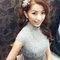 明星臉新娘~銀灰蕾絲,立領包袖,澎裙_時尚名媛微捲_魚兒(編號:419649)