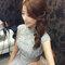明星臉新娘~銀灰蕾絲,立領包袖,澎裙_時尚名媛微捲_魚兒(編號:419677)