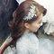 明星臉新娘~銀灰蕾絲,立領包袖,澎裙_時尚名媛微捲_魚兒(編號:419712)