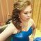 藍色禮服,敬酒造型,側捲,可可,台北臻愛婚宴會館(編號:419804)