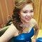 藍色禮服,敬酒造型,側捲,可可,台北臻愛婚宴會館(編號:419808)