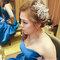 藍色禮服,敬酒造型,側捲,可可,台北臻愛婚宴會館(編號:419822)
