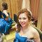 藍色禮服,敬酒造型,側捲,可可,台北臻愛婚宴會館(編號:419825)