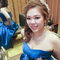 藍色禮服,敬酒造型,側捲,可可,台北臻愛婚宴會館(編號:419833)