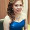 藍色禮服,敬酒造型,側捲,可可,台北臻愛婚宴會館(編號:419841)