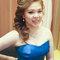 藍色禮服,敬酒造型,側捲,可可,台北臻愛婚宴會館(編號:419844)
