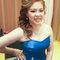 藍色禮服,敬酒造型,側捲,可可,台北臻愛婚宴會館(編號:419848)