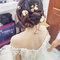 米白卡肩魚尾裙-森林系乾燥花盤髮-毓岑(編號:419854)