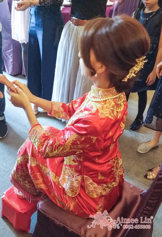 龍鳳袍 (裙掛) ,氣質編髮,文定儀式,魚兒,基隆全家福海鮮餐廳(編號:419897) - 新秘愛咪Aimee Makeup《結婚吧》