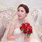水晶白紗長拖尾,進場造型,手工蕾絲皇冠,意珊,基隆長榮桂冠酒店(編號:420014)