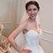 水晶白紗長拖尾,進場造型,手工蕾絲皇冠,意珊,基隆長榮桂冠酒店(編號:420026)