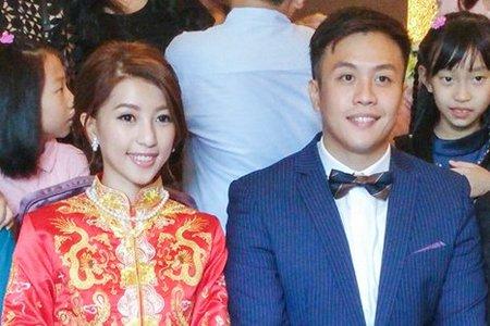 龍鳳袍 (裙掛) ,氣質編髮,文定儀式,魚兒,基隆全家福海鮮餐廳