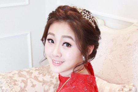 文訂首選~中式典雅好媳婦造型,紅色禮服