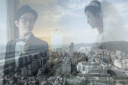 臺北的天空下城市婚禮的喜悅!!
