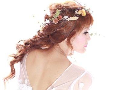 夢幻森林系新娘造型