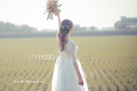 清麗鮮花新娘造型