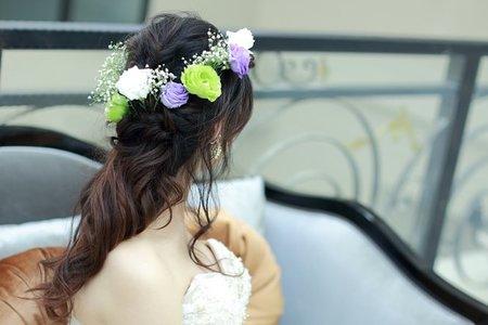 鮮花/乾燥花新娘造型