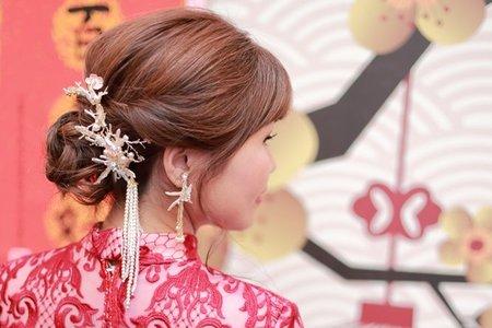 韓系編髮&日系花藝&中式復古新娘造型
