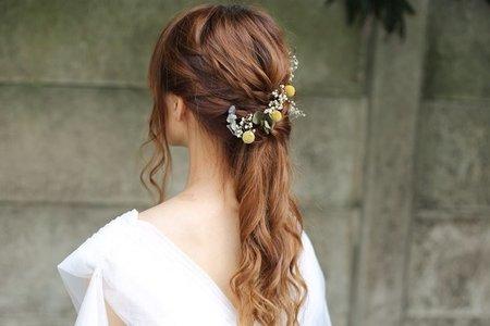清新自然新娘鮮花&乾燥花造型