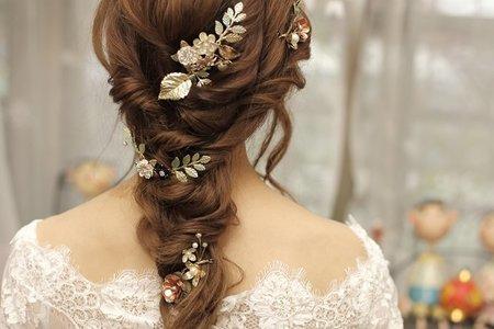 浪漫風格韓系新娘造型&精緻飾品