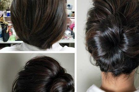 短髮新娘宴客造型