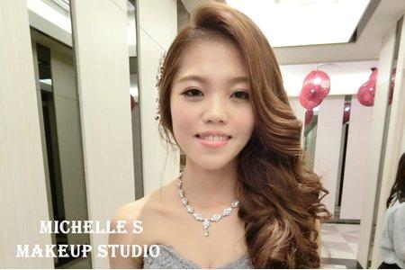 Michelle S 林口囍宴。氣質盤髮。甜美高包。優雅側髮。甜美公主