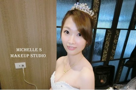 Michelle S 新莊囍宴。好媳婦古典盤髮。浪漫高盤髮。甜美側編髮。甜美捲髮