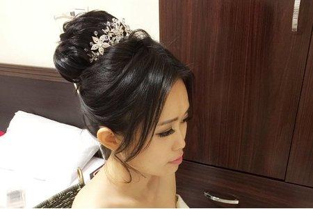 Michelle S 自助婚紗。韓式優雅高包+俏皮短髮+不退潮高馬尾