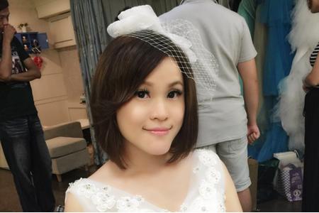 Michelle S 自助婚紗。原味短髮+韓式高包+小波浪短髮+法式側放捲髮+小波浪捲長髮