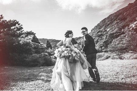 奔跑的微加小幸福-桔子&蝴蝶婚紗攝影
