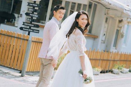 【風格婚紗】韓式棚拍 | 唯美仙氣 | 自然街拍